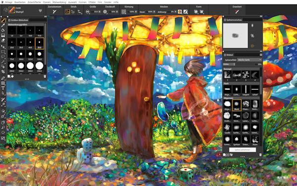 Painter 2022 Anpassung stempelbasierter Werkzeuge