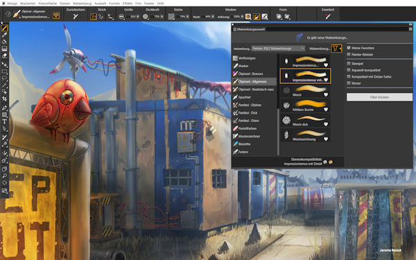 Painter 2022 Malwerkzeuge Bibliothek