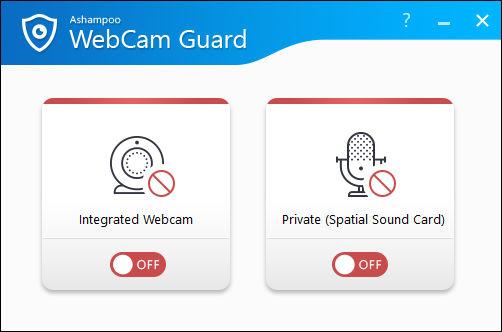 Ashampoo® WebCam Guard - Zugriff auf die Webcam und das Mikrofon absichern