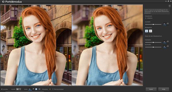 PaintShop Pr -2022 KI Portrait-Modus